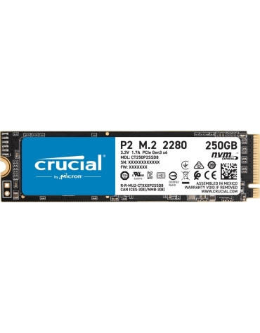 SSD CRUCIAL P2 250G M.2 2280 PCIe NVMe